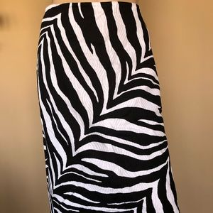 Talbots size 8 animal print pencil skirt
